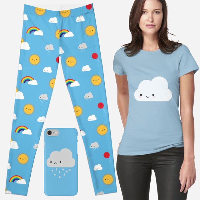 redbubble kawaii skies clothing