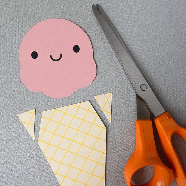 kawaii paper craft ice cream garland tutorial copyright marceline smith