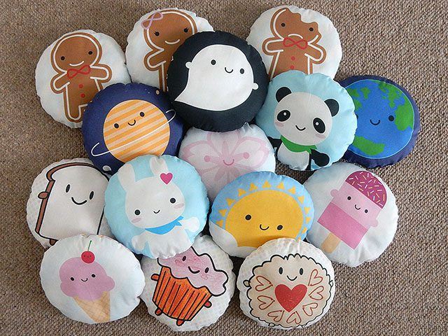 kawaii fabric mini pillows