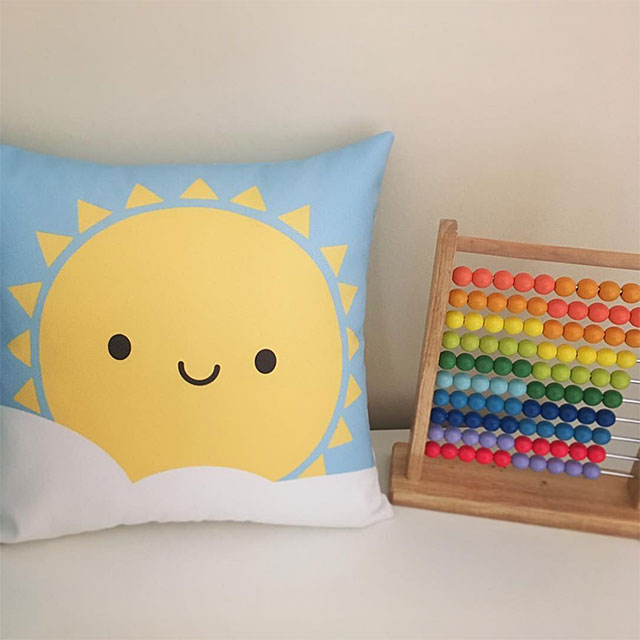 hello sunshine pillow - marcelinesmith