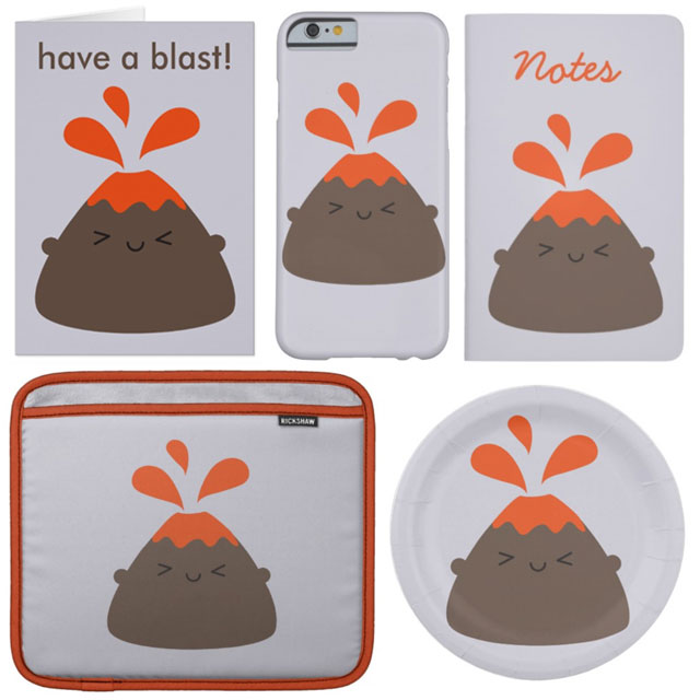 kawaii volcano zazzle askingfortrouble
