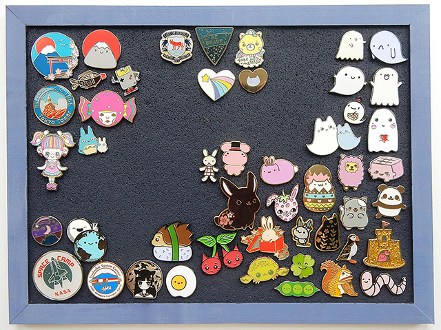 enamel pin collection - marcelinesmith