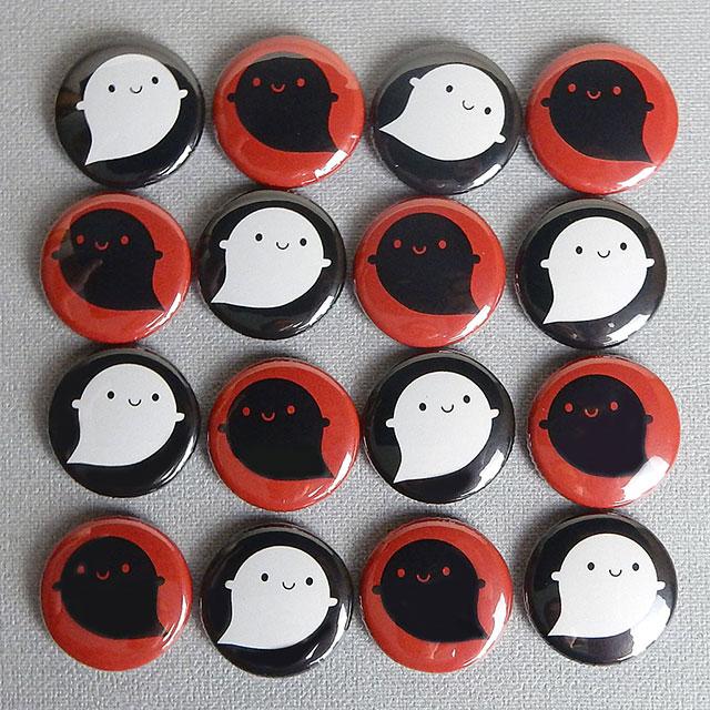 halloween ghosts badges