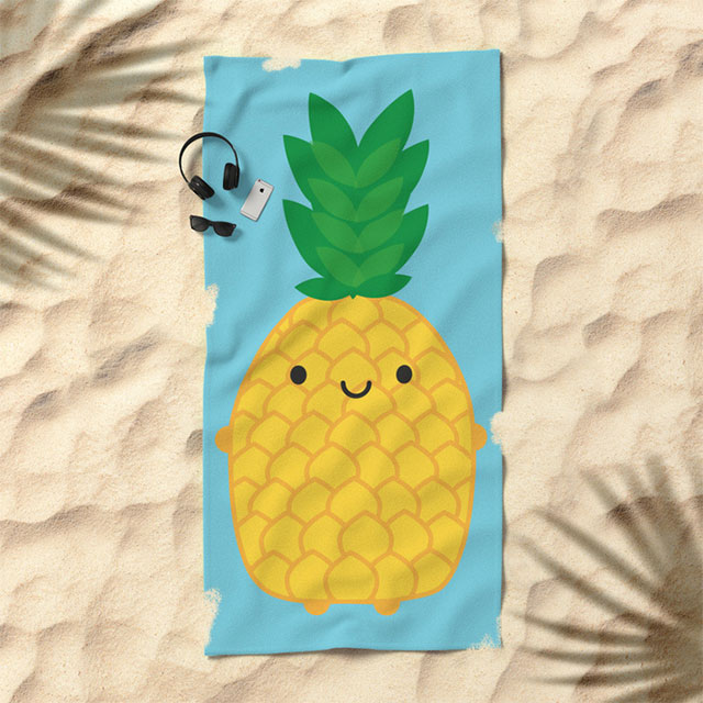 society6 pineapple beach towel