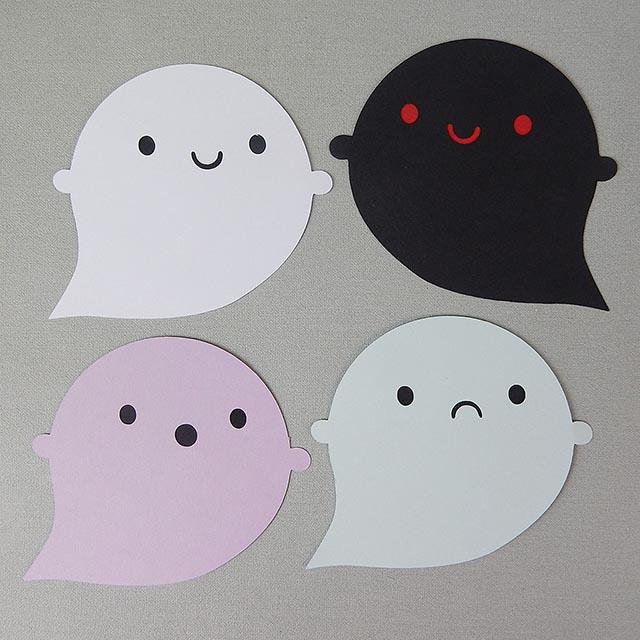 kawaii halloween ghosts paper crafts tutorial copyright marceline smith