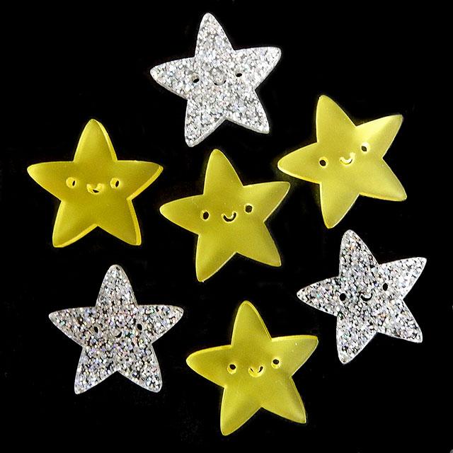 acrylic kawaii stars