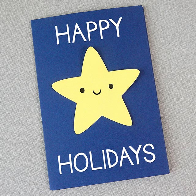 kawaii holiday card paper crafts tutorial copyright marceline smith