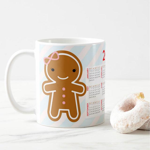 2018 calendar mug