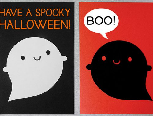 kawaii halloween ghosts paper crafts tutorial copyright marceline smith