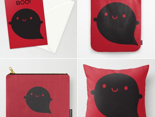 evil ghost halloween society6