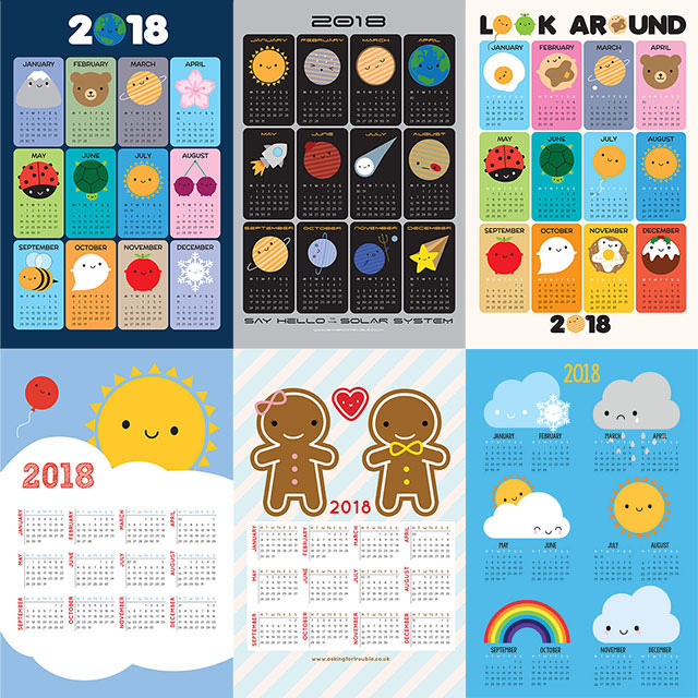 2018 Tea Towel Calendars