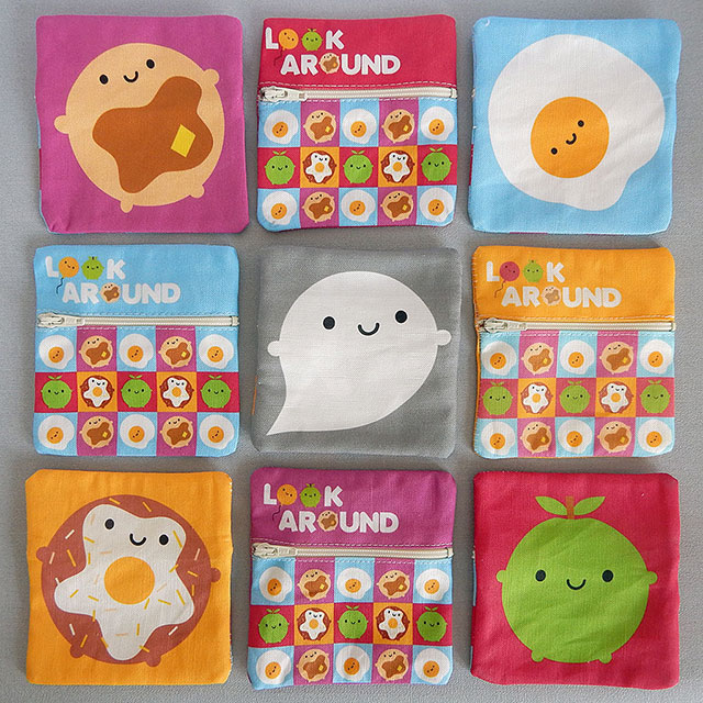 kawaii fabric coin purses
