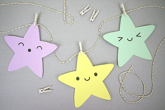 kawaii christmas stars paper crafts tutorial copyright marceline smith