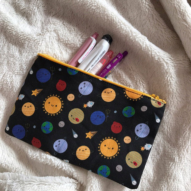 kawaii space pencil case