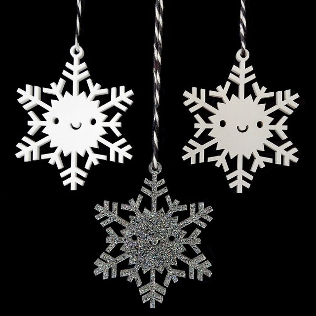 kawaii snowflake ornaments