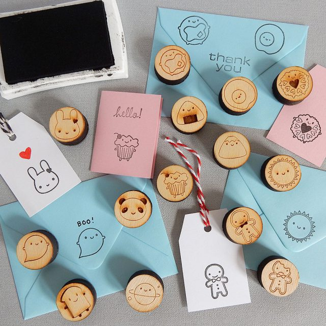 kawaii rubber stamps