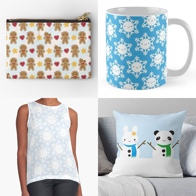 redbubble christmas gifts