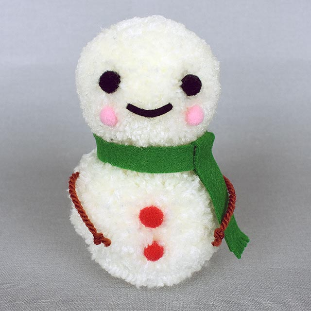 kawaii pom pom snowman