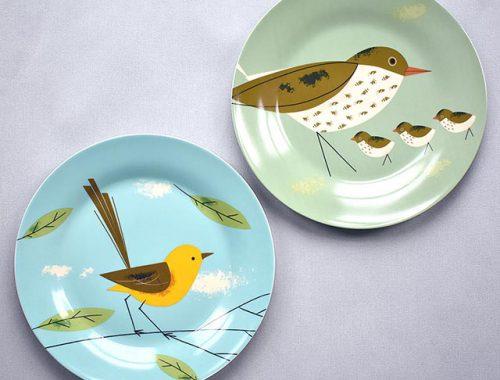 bird dinner plates