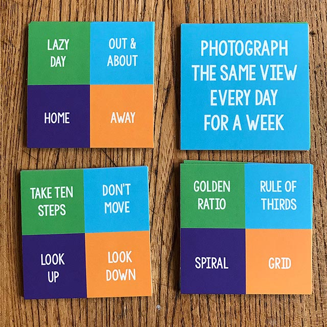 photo a day prompt cards