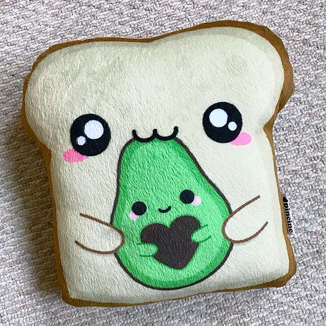 pincinc avocado toast plush