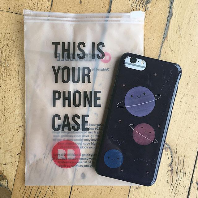 kawaii space iphone case