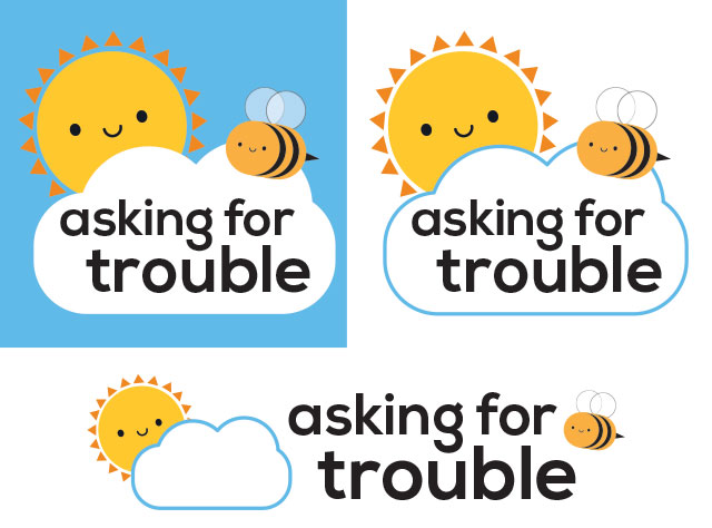 asking for trouble new logo