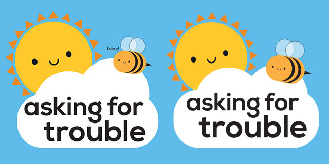 asking for trouble logo steps