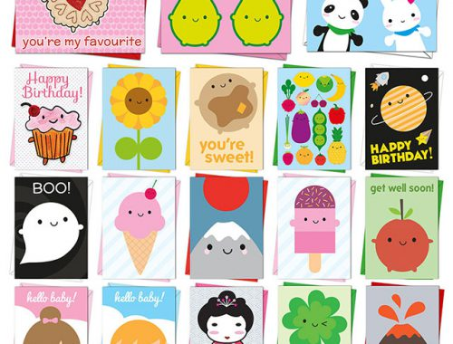 kawaii greeting cards