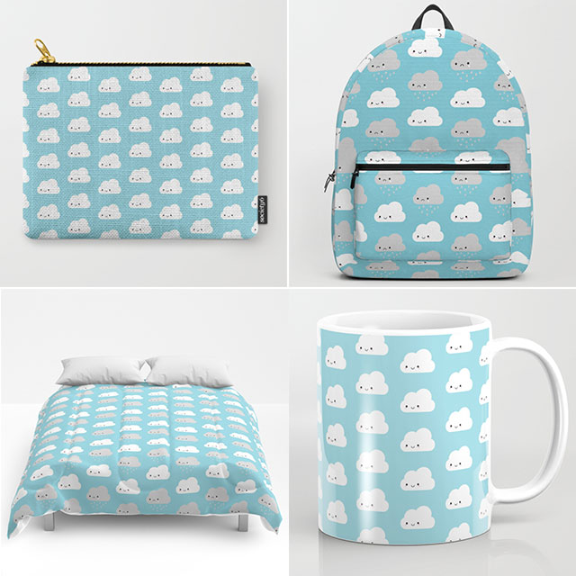 cute clouds society6