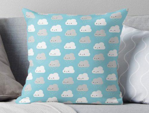 cute clouds pillow