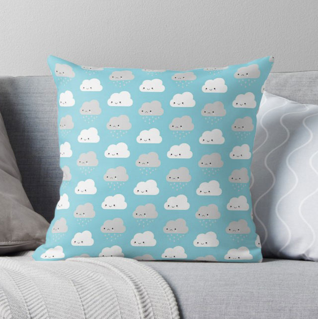 cute clouds pillow