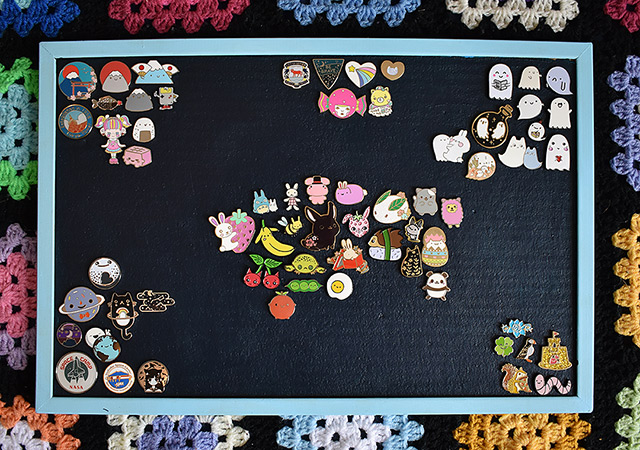 enamel pin display board - marcelinesmith