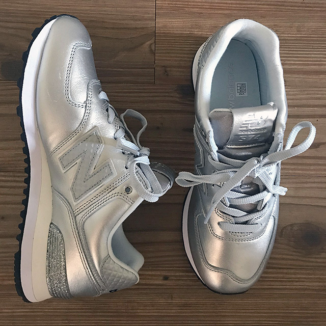 new balance silver trainers