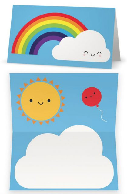 Kawaii Skies Gift Wrap - gift tags