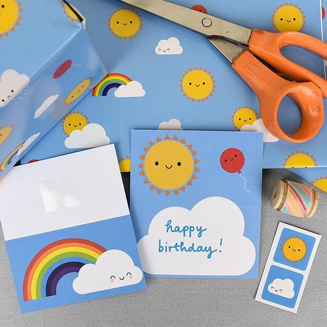Kawaii Skies gift wrap set