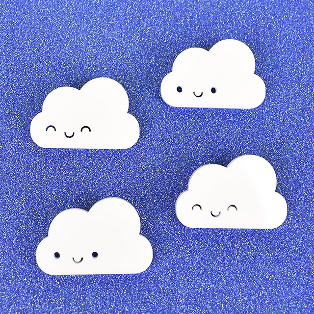 Kawaii Skies cloud brooches