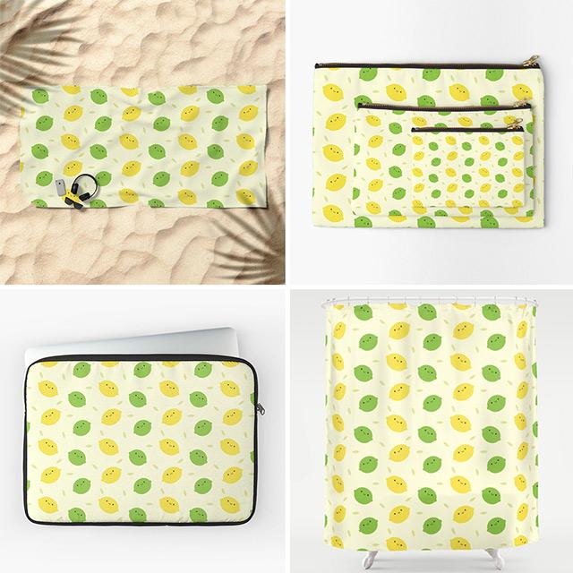 kawaii lemons and limes society6