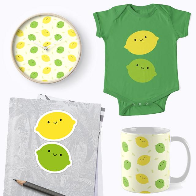 kawaii lemons and limes redbubble