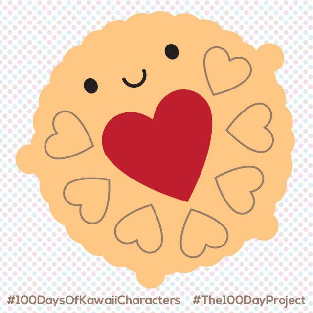 jammie dodger - #100DaysOfKawaiiCharacters