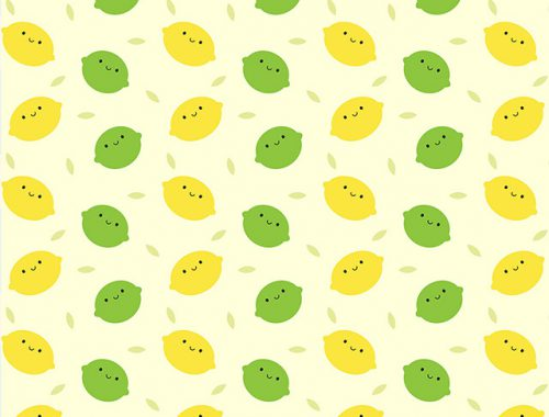 kawaii lemons and limes