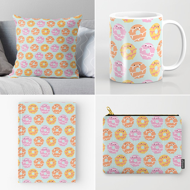 kawaii party rings biscuits society6