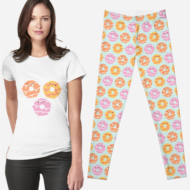 kawaii party rings biscuits redbubble