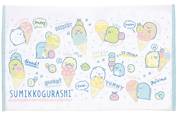 sumikko gurashi ice cream towel