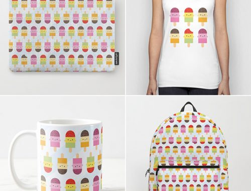 kawaii ice lollies society6