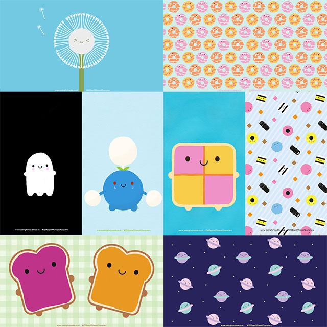 100 Days of Kawaii Characters - free wallpapers