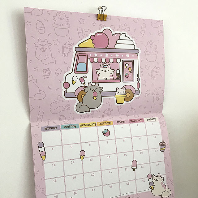 kawaii cat calendar