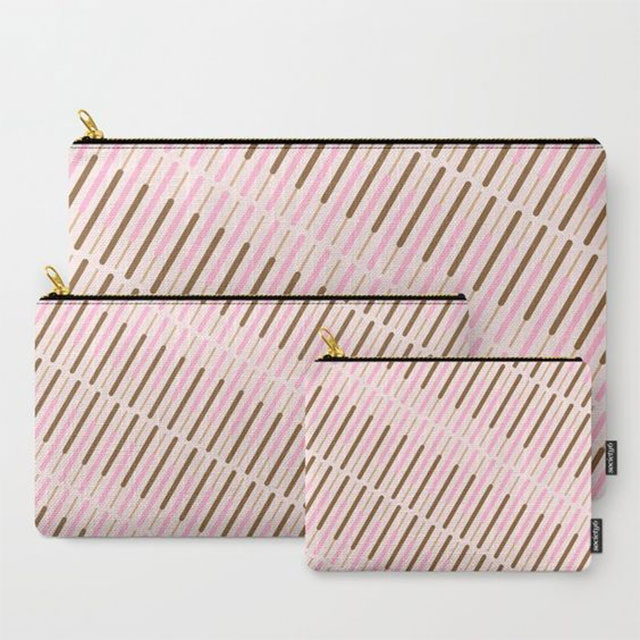 Japanese Biscuit Sticks Pocky pattern coin pouches Society6