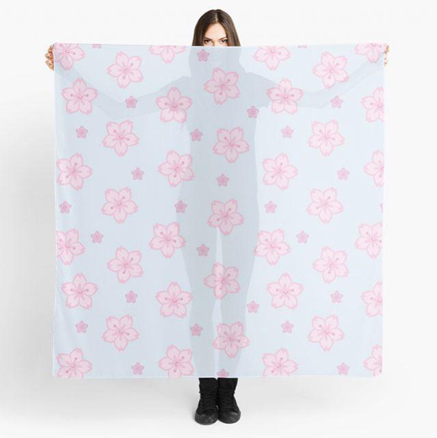 sakura cherry blossom kawaii scarf