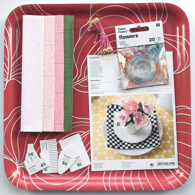 paper crafts flower kit